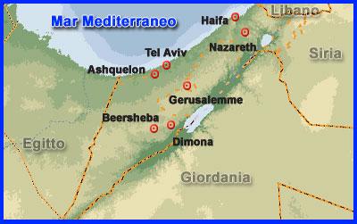 Cartina Israele Giordania.Israele